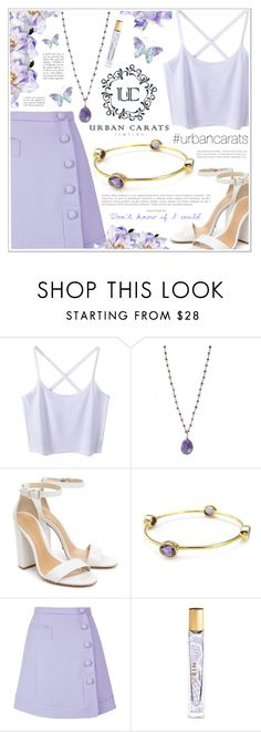 """Glicine"" by becky12 ❤ liked on Polyvore featuring Schutz, Carven, Estée Lauder and urbancarats"