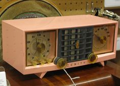Pink Zenith Clock Radio at Antiques Colony | Flickr - Photo Sharing!