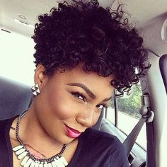 Lovely Curly Short Haircut for African American Women
