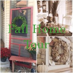A thrifty fall home tour mixing found treasures with new items from At Home Store's great fall decor selection Halloween Home Decor, Halloween House, Fall Home Decor, Autumn Home, Old Fashioned Recipes, Grandma's House, At Home Store, Decorating On A Budget, Nifty