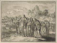 Jan Luyken | Christus gevolgd door zijn discipelen en een aantal vrouwen, Jan Luyken, 1712 |