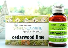 Cedarwood Lime Soap and Blissful Body Oil Gift Set $22.00