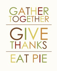 Free Thanksgiving Printable. Go to the site and right-click on the picture to save it to your computer.