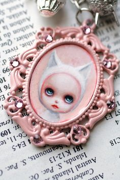 Pretty Kitty Knitty - original cameo by Mab Graves by mab graves, via Flickr