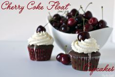 Cherry Coke Float Cupcakes