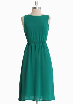 "Divine Feelings Chiffon Dress 55.99 at shopruche.com. One of our favorites, this flattering dress is crafted in green georgette with a demure keyhole back, a back button closure, and an elasticized waist for a defined fit. Fully lined. UK sizes.100% Polyester, Imported, 39.5"" length from top of shoulders, 33"" bust, All measurements are taken from a size 8"