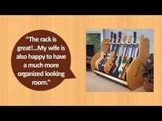 Here's a vid of some of our guitar storage products and customer review. View more product details at http://www.GuitarStorage.com