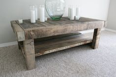 Reclaimed Coffee Table : Reclaimed Barn Wood - Hand Crafted - Hand Finished
