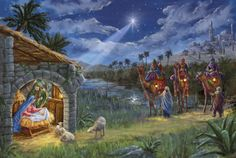 The Wise Men Arrive - art by Marcello Corti, via advocate-art
