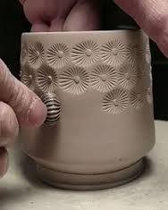 Risultati immagini per plato de ceramica parece tejido