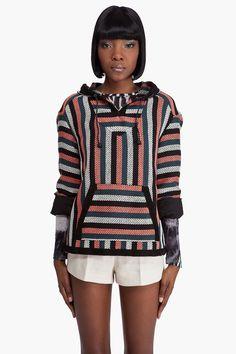 PROENZA SCHOULER Baja Poncho Jacket