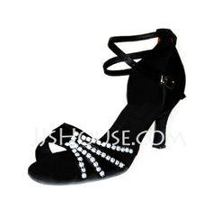 Dance Shoes - $24.99 - Satin Heels Sandals Dance Shoes (053006986) http://jjshouse.com/Satin-Heels-Sandals-Dance-Shoes-053006986-g6986