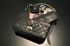 Chanel bag and YSL purse