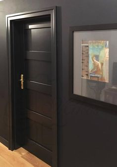 Nowoczesne czarne drzwi drewniane