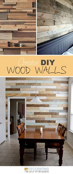 DIY Wood Walls • Tons of Ideas, Projects Tutorials! http://www.decoratingyoursmallspace.com/