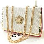 Casual PU Geometric Patchwork Rhinestones Star-magazine-style Bag for Women DTH-310599