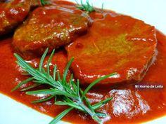 Redondo de ternera en salsa de piquillos. Última entrada de nuestro blog.