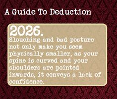 A Guide To Deduction, Suggested Anonymously