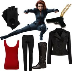 """Black Widow"" by geekstylist on Polyvore"