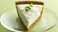 Key lime yogurt, fresh lime peel and juice give a refreshing tangy taste to this cool pie!