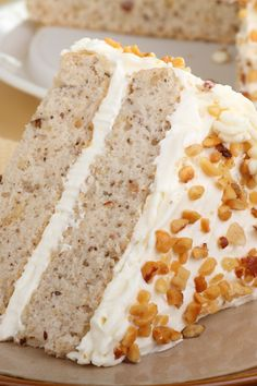 2 of my favorite things...bananas and cream cheese frosting!  Banana Nut Cake with Cream Cheese Frosting