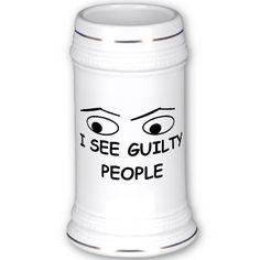 I see guilty people mugs, great police humor!