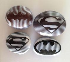 Super hero airbrushed stones SNS DESIGNS
