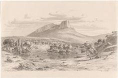 Mt. Sturgeon and the Wannon in the Grampians, Victoria - Eugene von Guerard