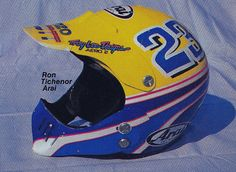 1988 Troy Lee Designs painted Arai of Ronnie Tichenor | Flickr - Photo Sharing!