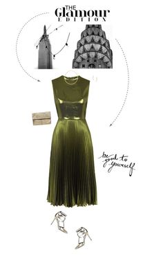 """""""Metallic Green & Gold Outfit."""" by xabbielou ❤ liked on Polyvore featuring Topshop and Kin by John Lewis"""