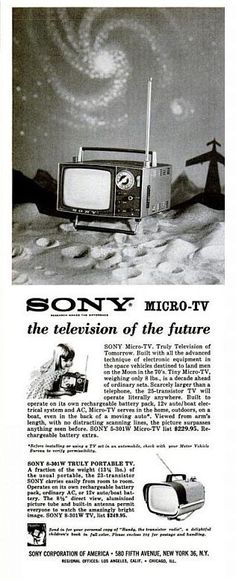 SONY Micro-TV advert. 1963