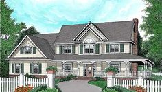 Plan W6537RF: Farmhouse, Corner Lot, Country House Plans & Home Designs