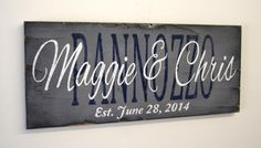 Custom Wood Sign Personalized Wood Sign Custom Name Personalized Name Wedding Gift Bridal Shower Gift Housewarming Gift Rustic Chic Decor
