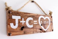Personalized Love Sign Wood Custom Wedding Decor by MangoSeed, $25.00