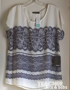 Love this top from Stitch Fix!  41hawthorn milan lace print back pleat top