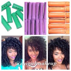 protectivestyles (Protective Natural Hair Styles) on Instagram Green Rods = gives lots of volume / extremely full hair. sets do not last as long. Purple rods = excellent for the summer as it creates a tighter curl which will last through humidity. hair last the longest with all pink rods. Orange = not too full...not too tight. Will last about 10 days.