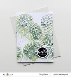just made from paper: Altenew Exotic Garden Stamps/Dies/Stencils/Embossing Folders Collection Release Blog Hop + Giveaway Altenew Cards, Jennifer Mcguire, Friendship Cards, Simple Flowers, Hello Everyone, Alter, Stencils, Exotic, Card Making