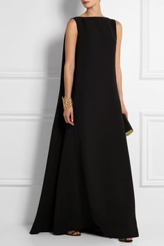 Valentino|Robe longue du soir en cady de soie|NET-A-PORTER.COM