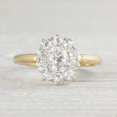 This ring. Im dying. Image of .80 Carat Edwardian Diamond Cluster Engagement Ring