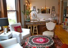 """Julie's """"Modern Central Asian"""" Room. this is nice."""