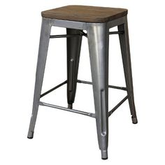 Hampden Counter Stool - Natural Metal (1 Pack)