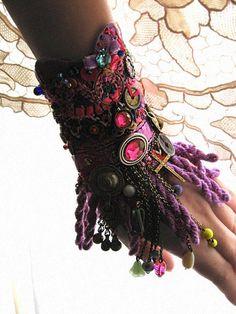 Reflectance Gypsy JanglePurple Beaded Bracelet by AllThingsPretty, $165.00