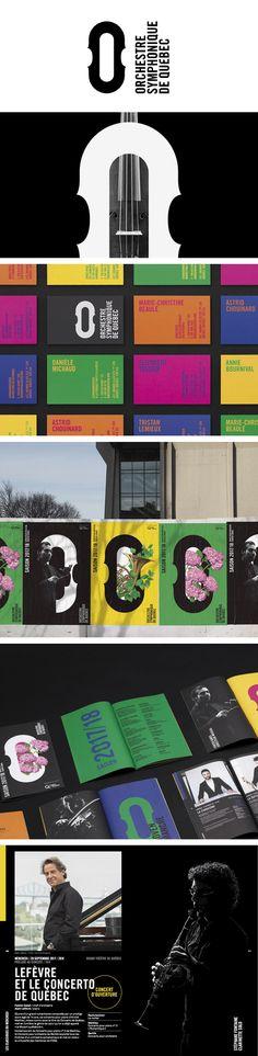 More corporate-designs are collected on: https://pinterest.com/rothenhaeusler/best-of-corporate-design/ · Agency: lg2 · Client:  Orchestre symphonique de Québec · Source: http://lg2.com/fr/realisations/801/orchestre-symphonique-de-quebec-identite-visuelle #branding #identity #corporatedesign