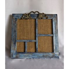 Photo Frame Collage Distressed BlueP/Boho Rustic Vintage Decor/Vintage... (€36) ❤ liked on Polyvore featuring home, home decor, holiday decorations, holiday decor and holiday home decor
