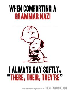 Comforting a grammar obsessed person... - The Meta Picture
