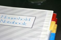 """I'm so jealous of this ladies' time - I have about a dozen notebooks, and another dozen """"to do"""" lists.  This is my new goal to condense them.  ** Household Notebook and Free Printables!"""