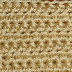 Our Step-by-Step Guide to a Half Double Crochet Stitch Worked in Rows: Rows of Half Double Crochet Stitches