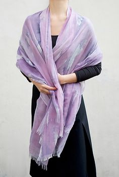 Multi-Colored+Cashmere+Shawl by Yuh+Okano: Wool+Shawl available at www.artfulhome.com