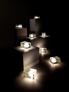 BLOCK LAMP WHITE CORD by Harri Koskinen