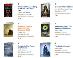 Roy Huff - Google+  It was fantastic for Everville The First Pillar by Roy Huff to share the #6 spot with Lord of the Rings in Amazon's Epic Fantasy category! Looks like my next friend is Game of Thrones sitting two spots above me at #2 Now Everville The First Pillar is at #4. This is getting interesting!